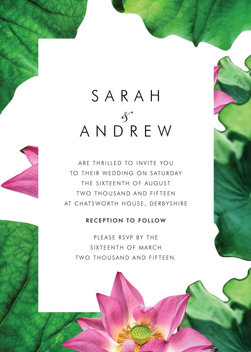 Lotus be lovers - Wedding Invitations