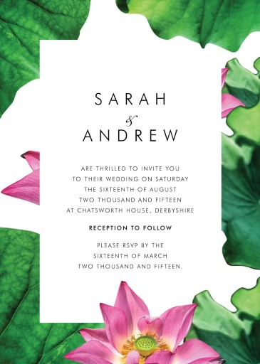 Lotus be lovers Wedding Invitations - wedding invitations