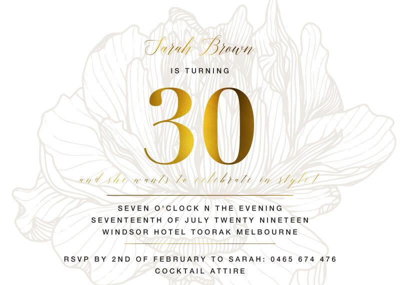 Wild Flower - Birthday Invitations