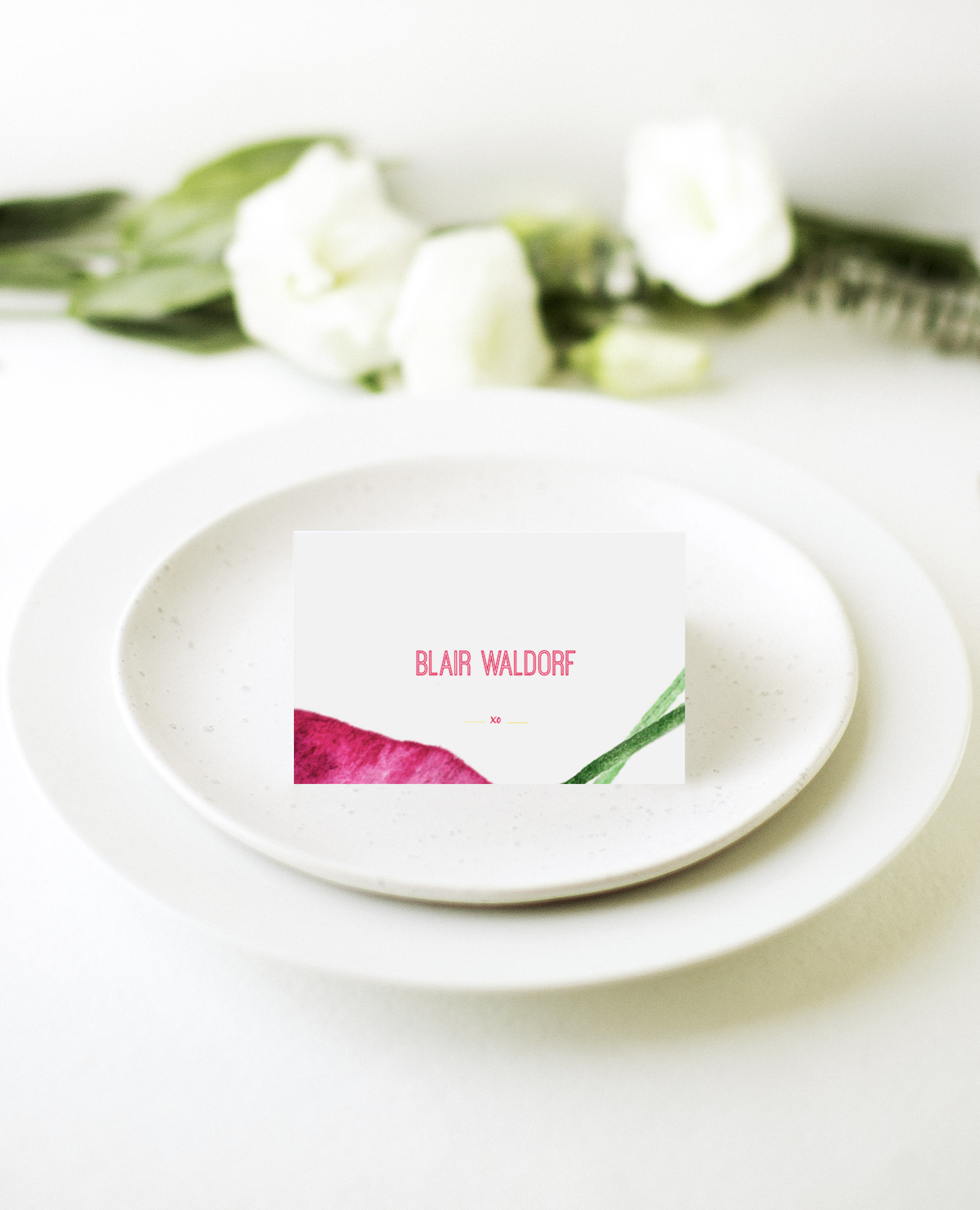 Party like Serena - Place Card