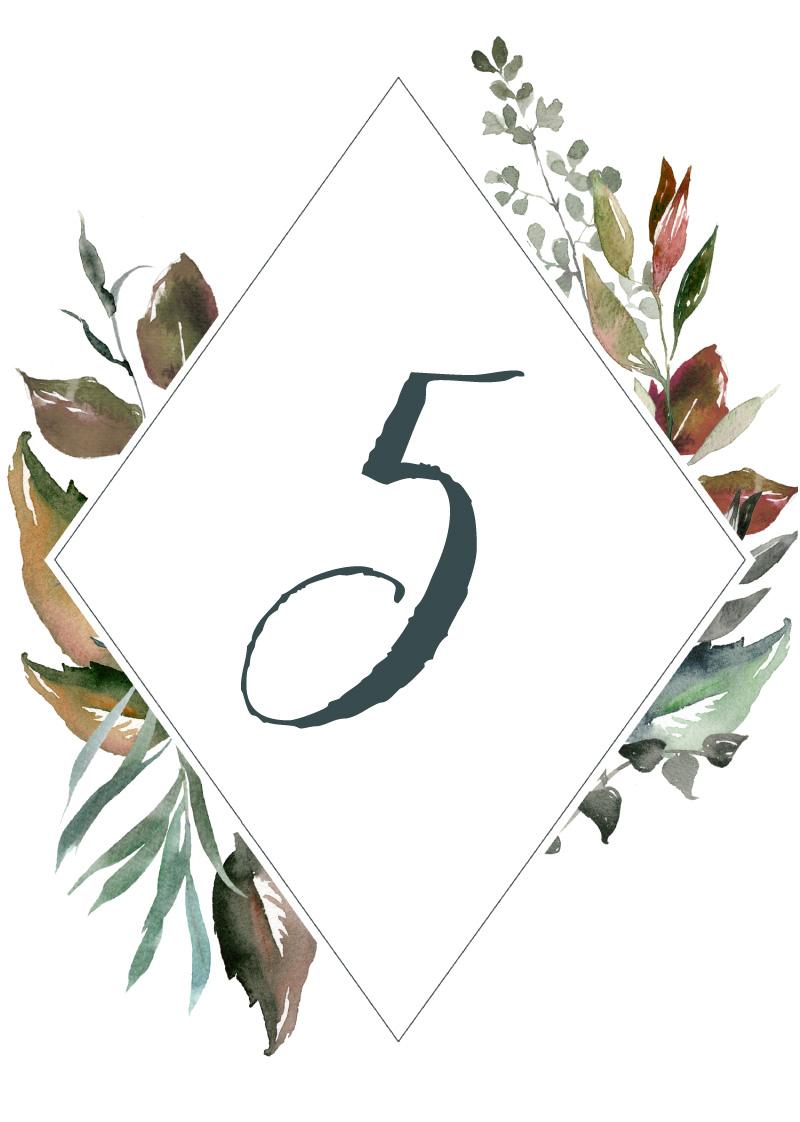 Melaleuca - Table Numbers