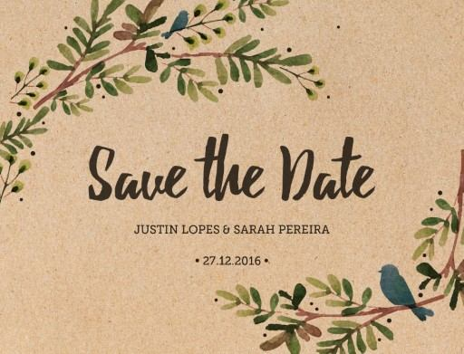 Rustic Garden - Save The Date