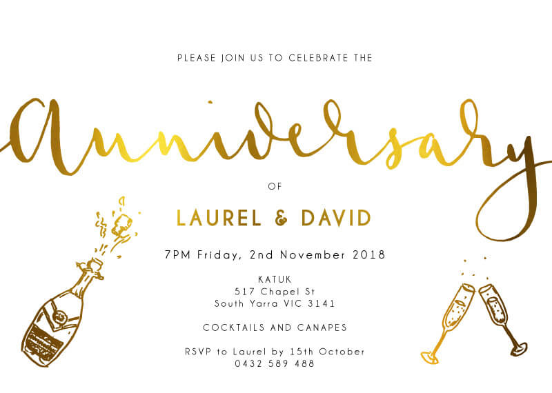 Ink and Nib Anniversary - Wedding Anniversary Invitations