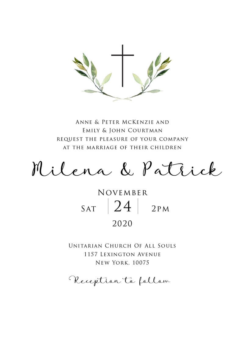 Church Avenue - Wedding Invitations