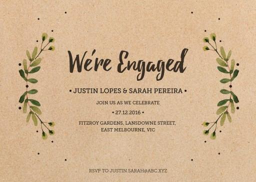 Rustic Garden - engagement invitations