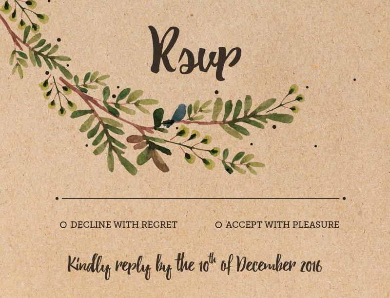 Rustic Garden - RSVP Cards
