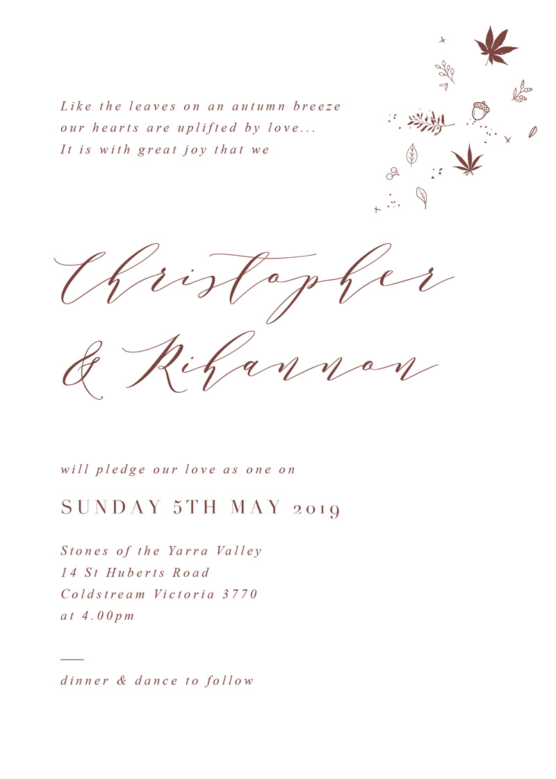 Sprinkle Of Love - Wedding Invitations