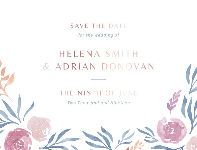 Peony rose - Save The Date