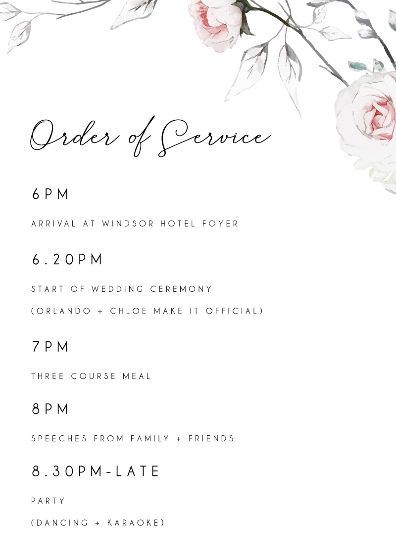Florescence - Wedding Programs