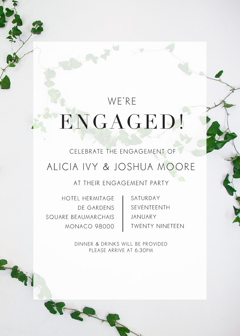 Ivy - Engagement Invitations
