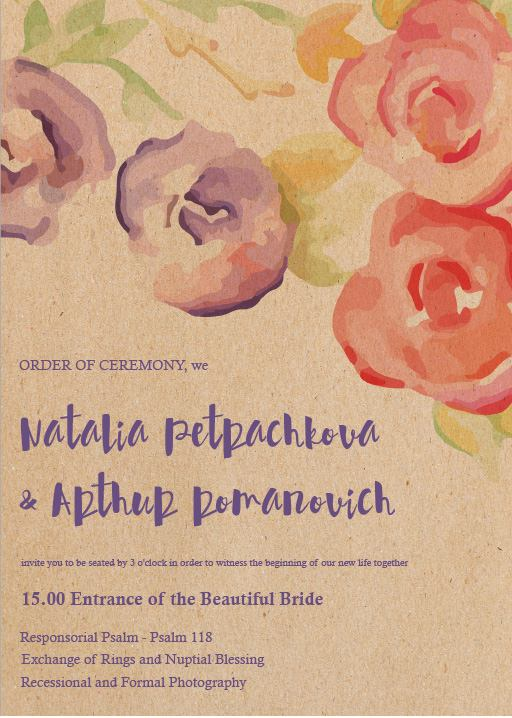 Rustic Botannica - Order of Service