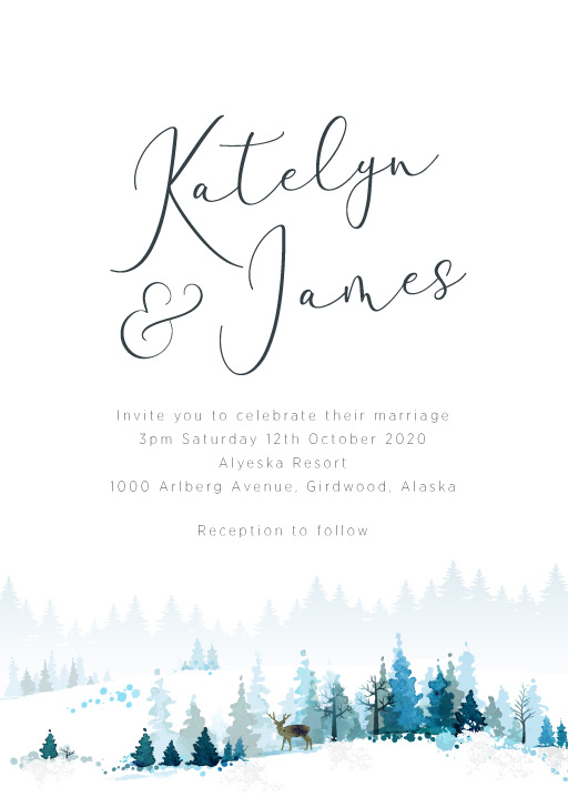 Alaska Wedding Invitations - wedding invitations