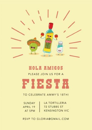 Fiesta Party - birthday invitations