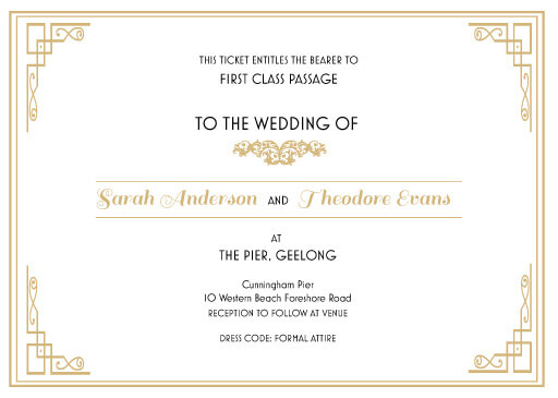 All Aboard Wedding Invitations - wedding invitations