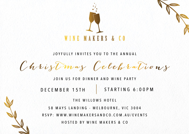 Bubbly - Christmas Party Invitations