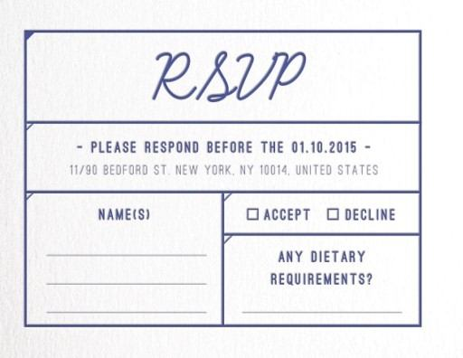 Box - RSVP Cards
