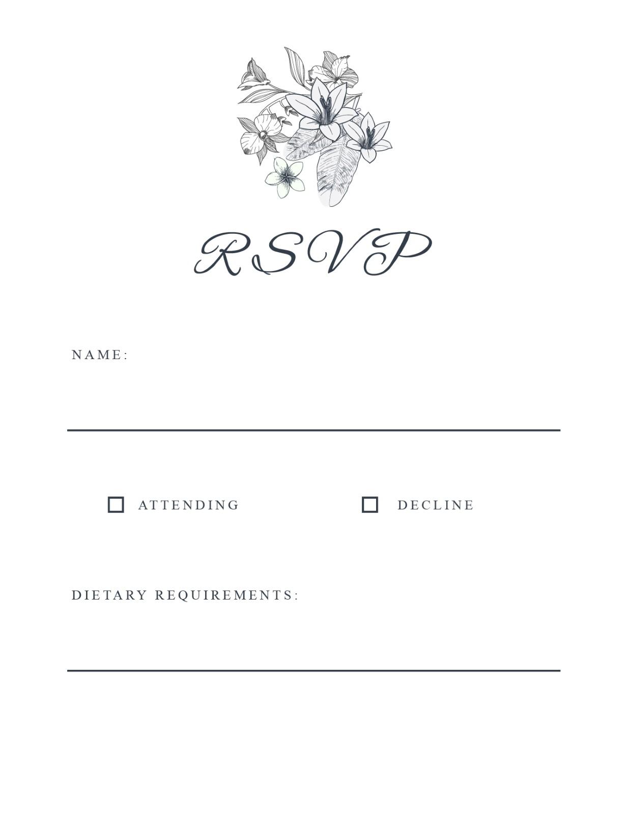 Nature - RSVP Cards