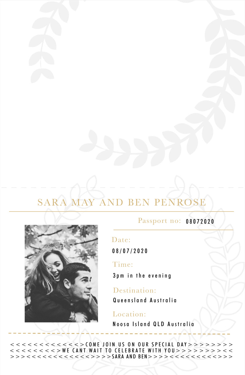 Voyage - Engagement Invitations