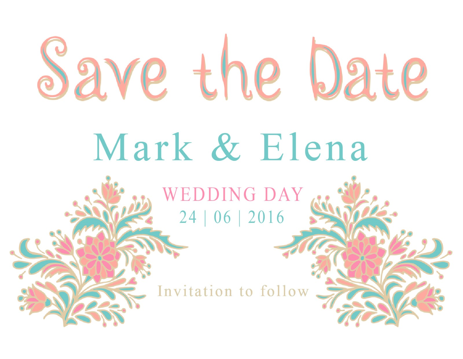 Floral - Save The Date