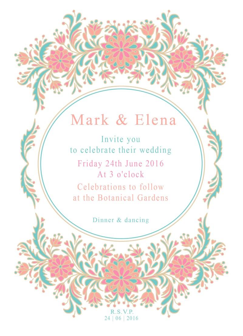 Floral - Invitations