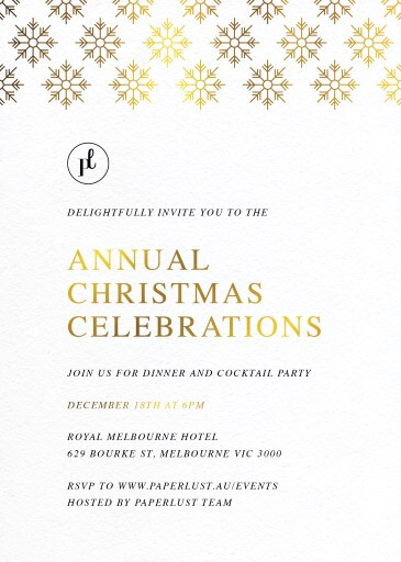 Winter Sparkle - christmas party invitations