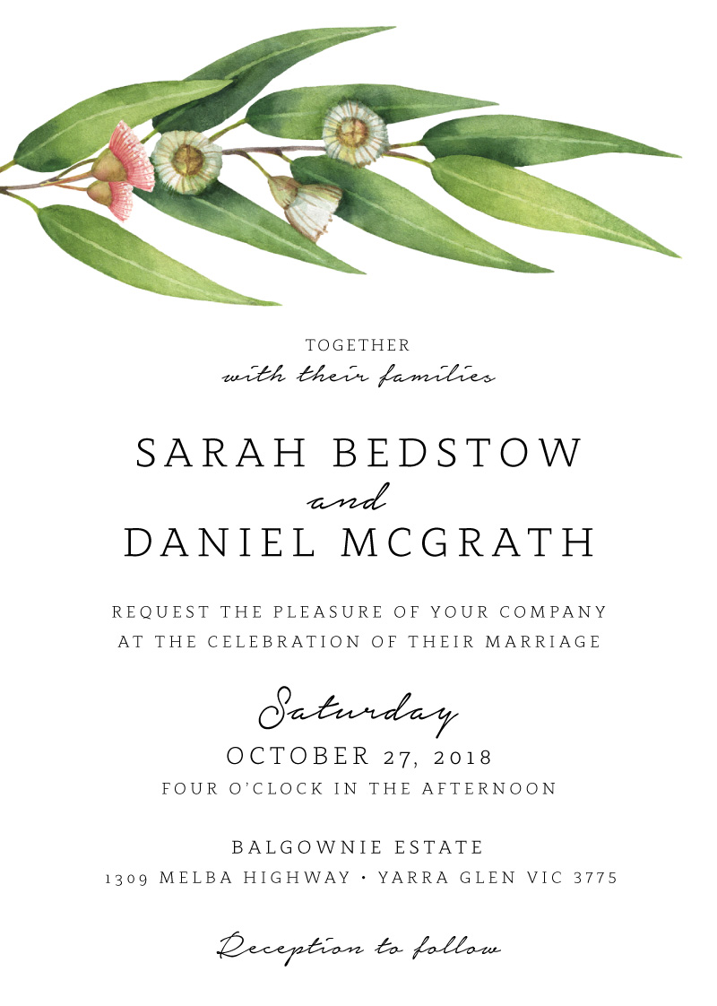 Flowering Gum - Wedding Invitations