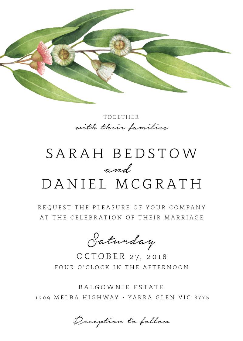 Flowering Gum - Wedding Invitations