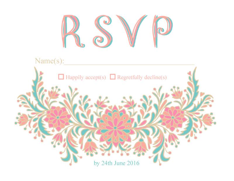 Floral - RSVP Cards