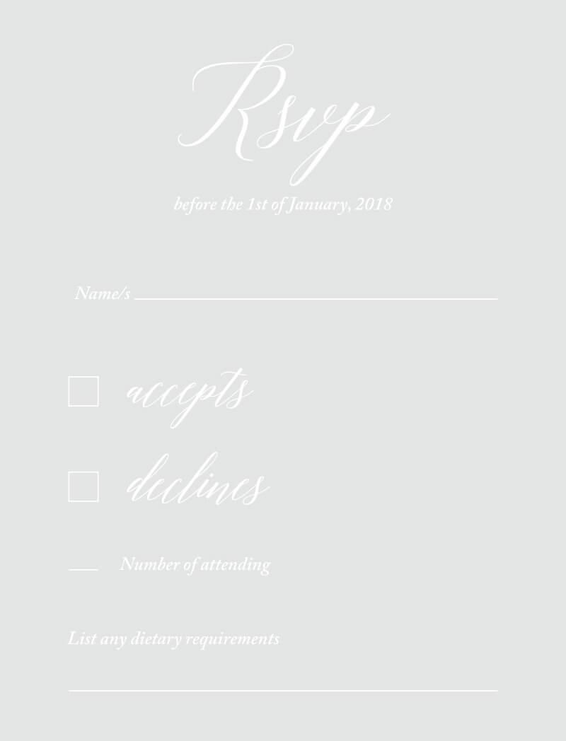Pastel Script - Rsvp