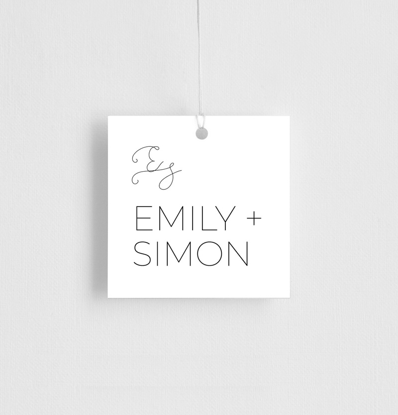 Minimalist Black and White - Gift Tags