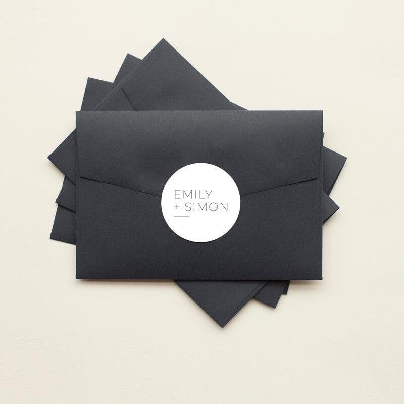Minimalist Black and White - Stickers