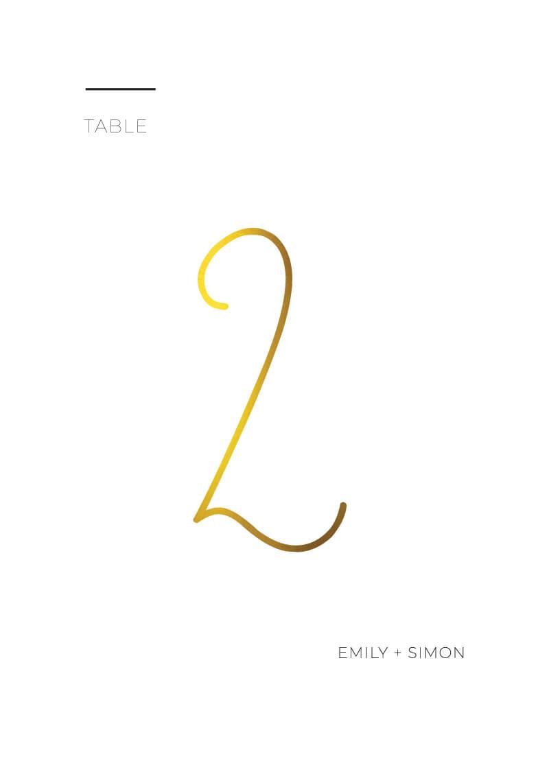 Minimalist Black and White - Table Numbers