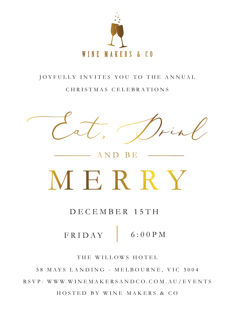 Merry and Bright - Christmas Party Invitations
