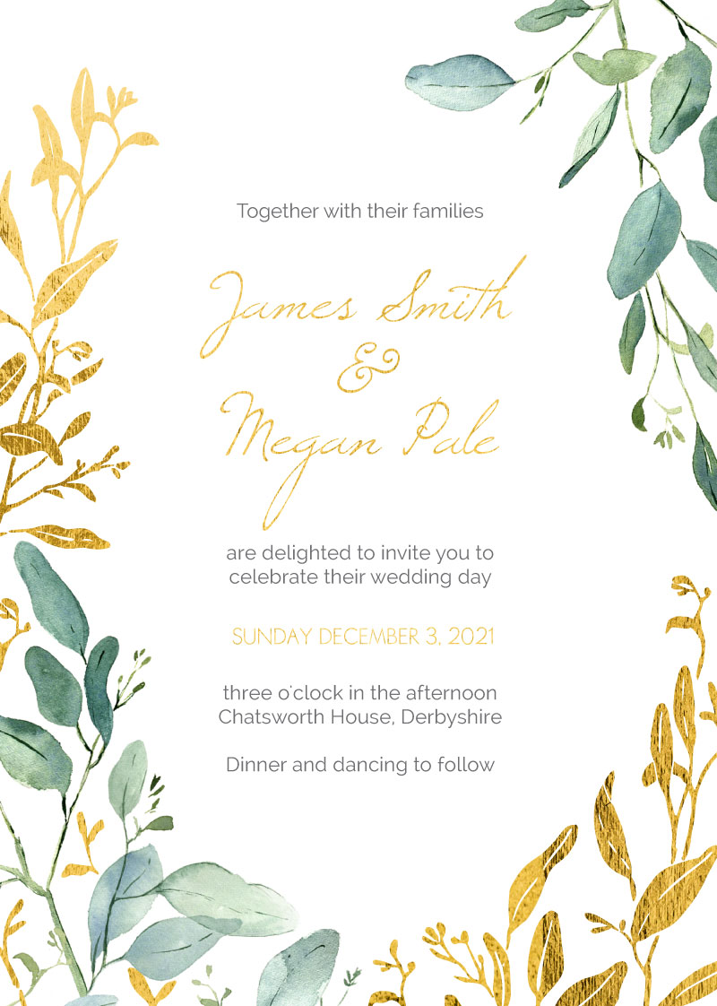 Botanical Geo - Wedding Invitations