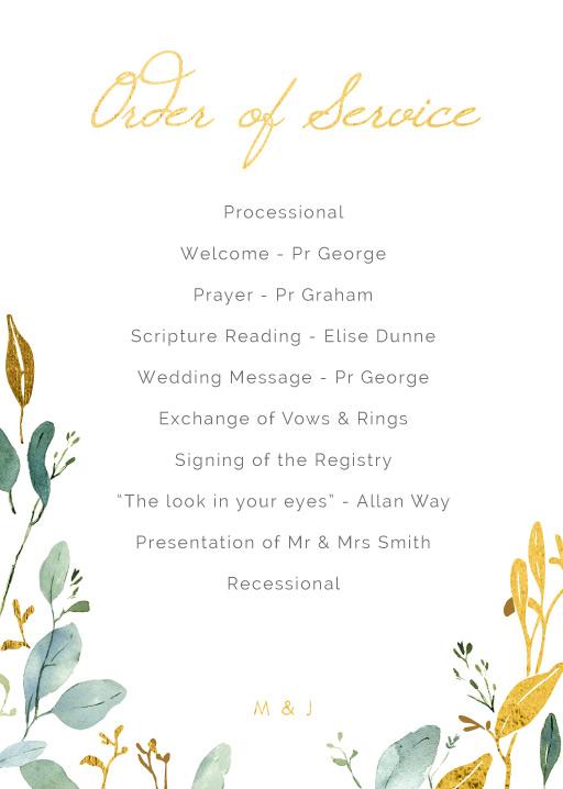 Botanical Geo - Wedding Programs