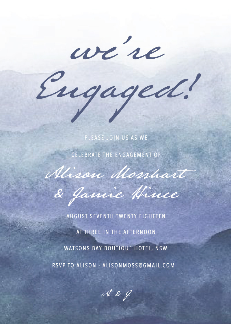 Mira - Engagement Invitations