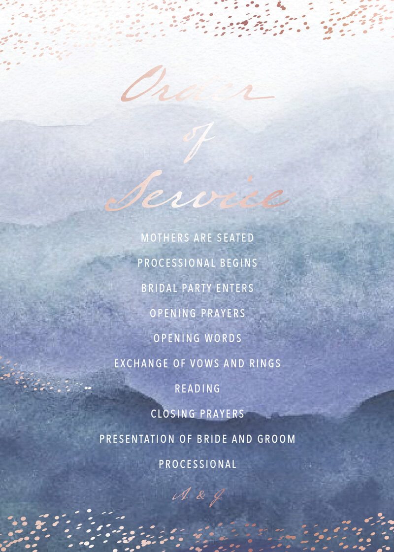 Mira - Wedding Programs
