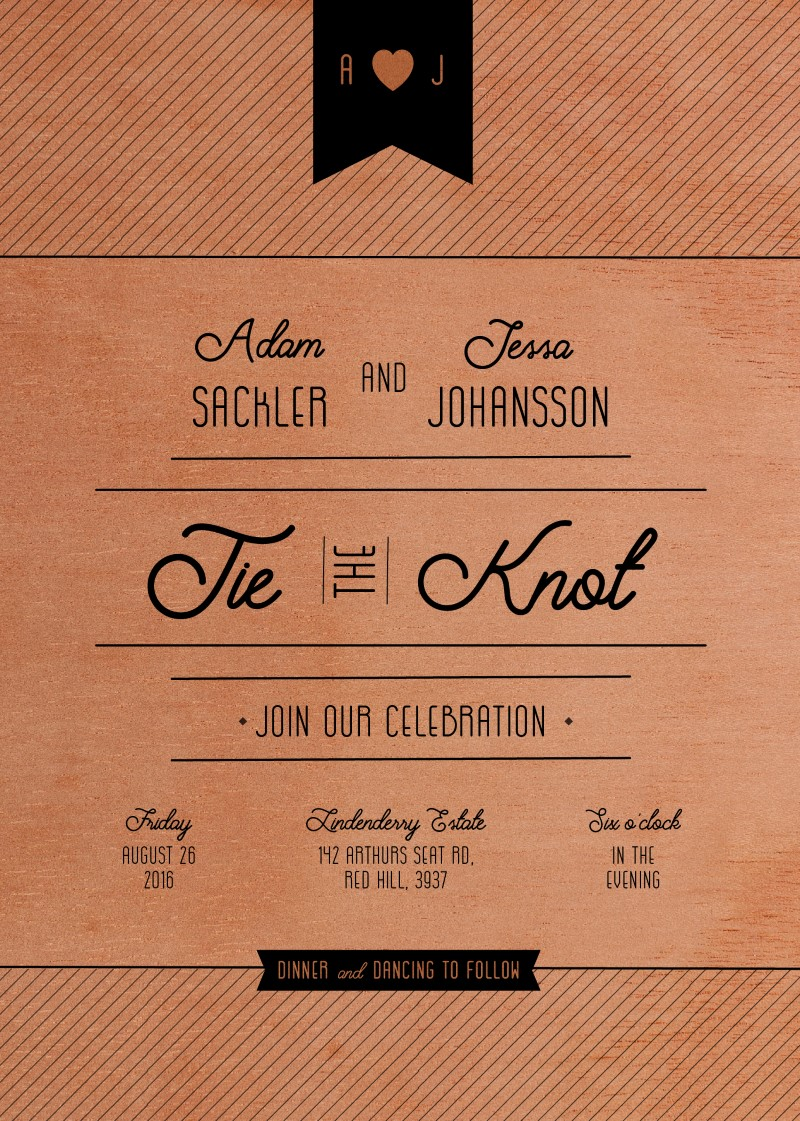 Jeesa - engagement invitations