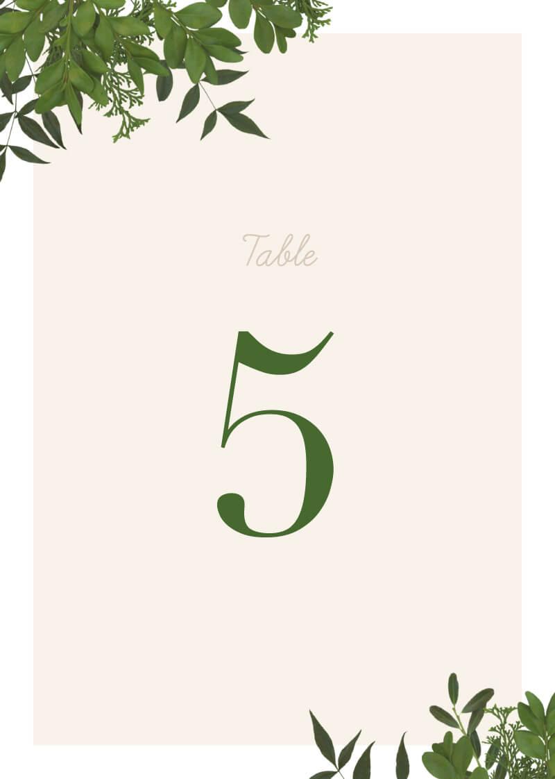 Mod Botanical - Table Numbers