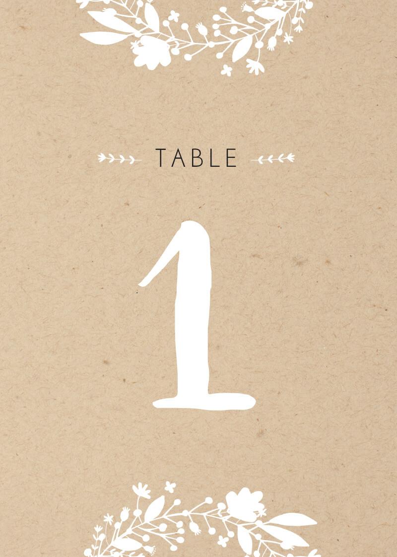 Folk Love - Table Numbers