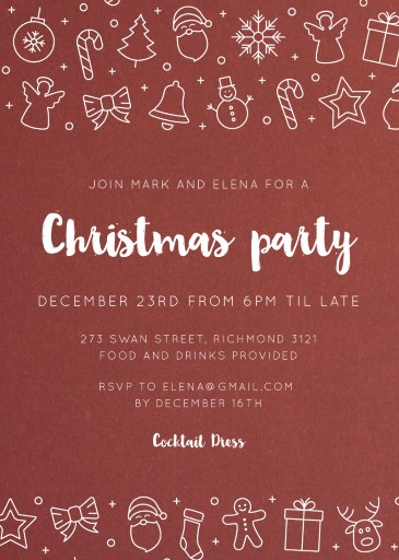 Christmas Ornaments - christmas party invitations