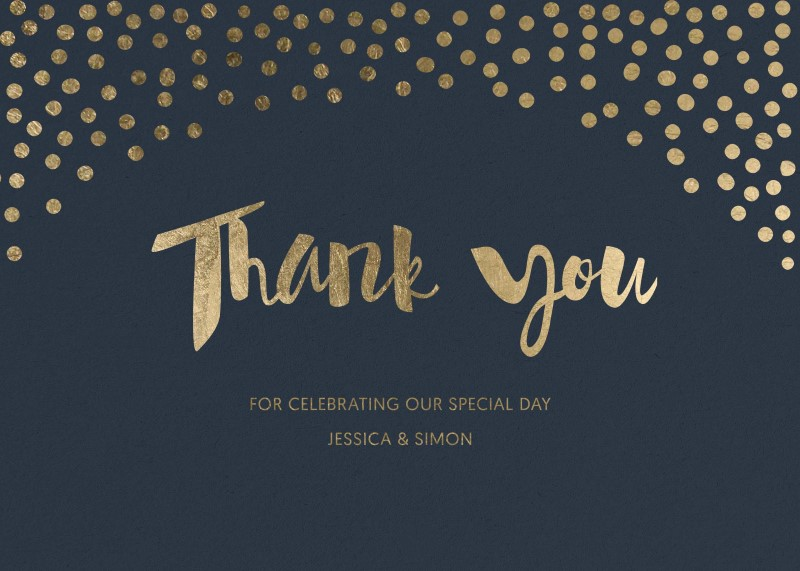 Foil of dreams - Thank You Cards