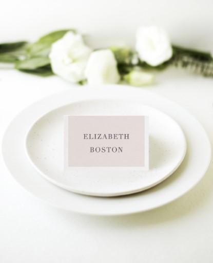 Elegant Type - Place Cards