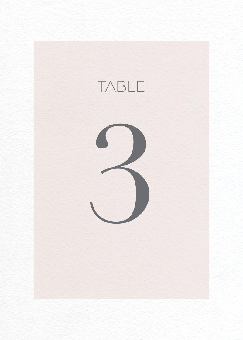 Elegant Type - Table Numbers