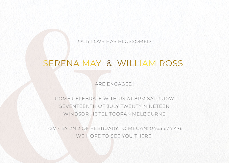 Elegant Type - Engagement Invitations