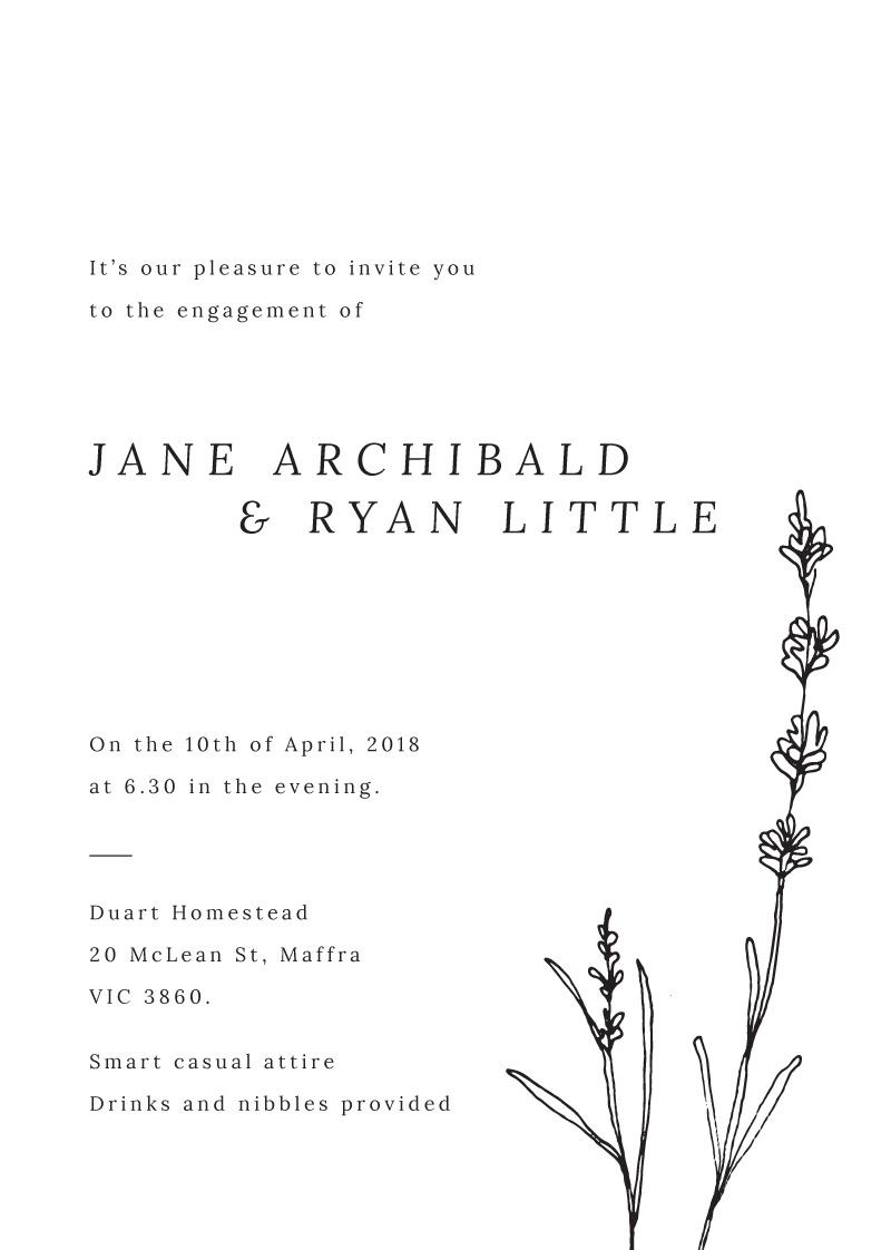 Delicate Lavender - Engagement Invitations