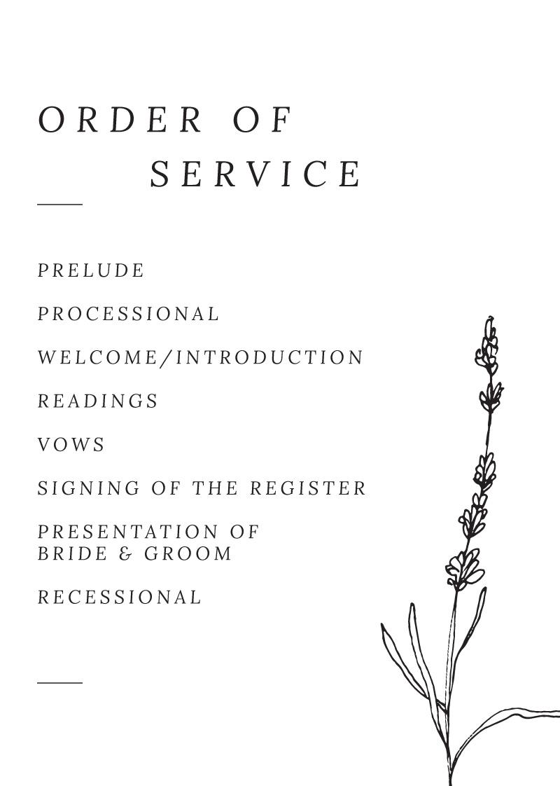 Delicate Lavender - Wedding Programs