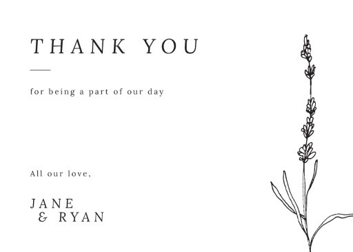 Delicate Lavender - Thank You Cards