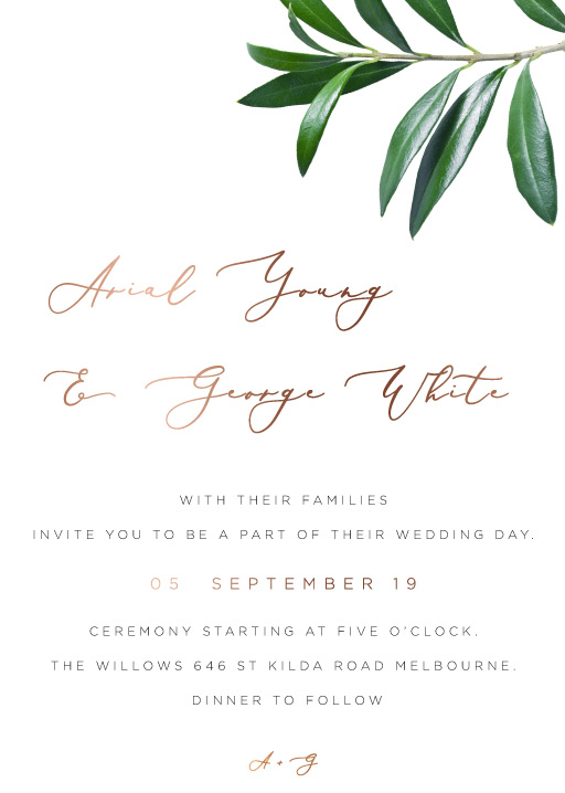 Olive Wedding Invitations - wedding invitations