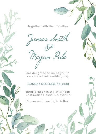 Botanical Geo Wedding Invitations - wedding invitations